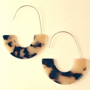 Mottled Acrylic Earrings